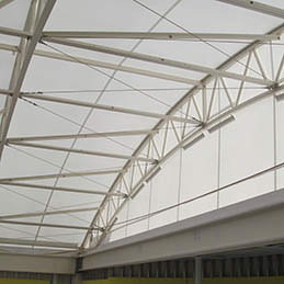 Serge Ferrari 1202 fabric | steel frame supported fabric structure