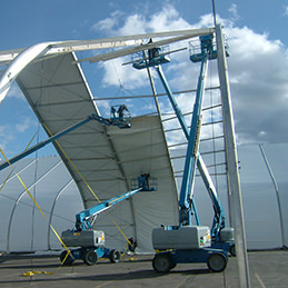 Keder roofsheet | TFS install with keder extrusions